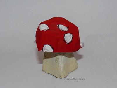 Basteln Kidsaction De Basteln Eierkarton Pilze