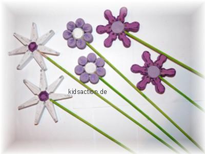 Blumen aus Wäscheklammern