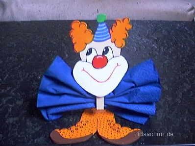 Basteln Kidsaction De Serviettenhalter Clown Aus Holz Und